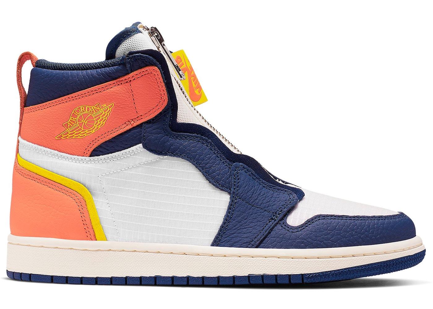 Jordan 1 Retro High Zip Blue Void Turf Orange (W) - AQ3742-100 0cc8c6981