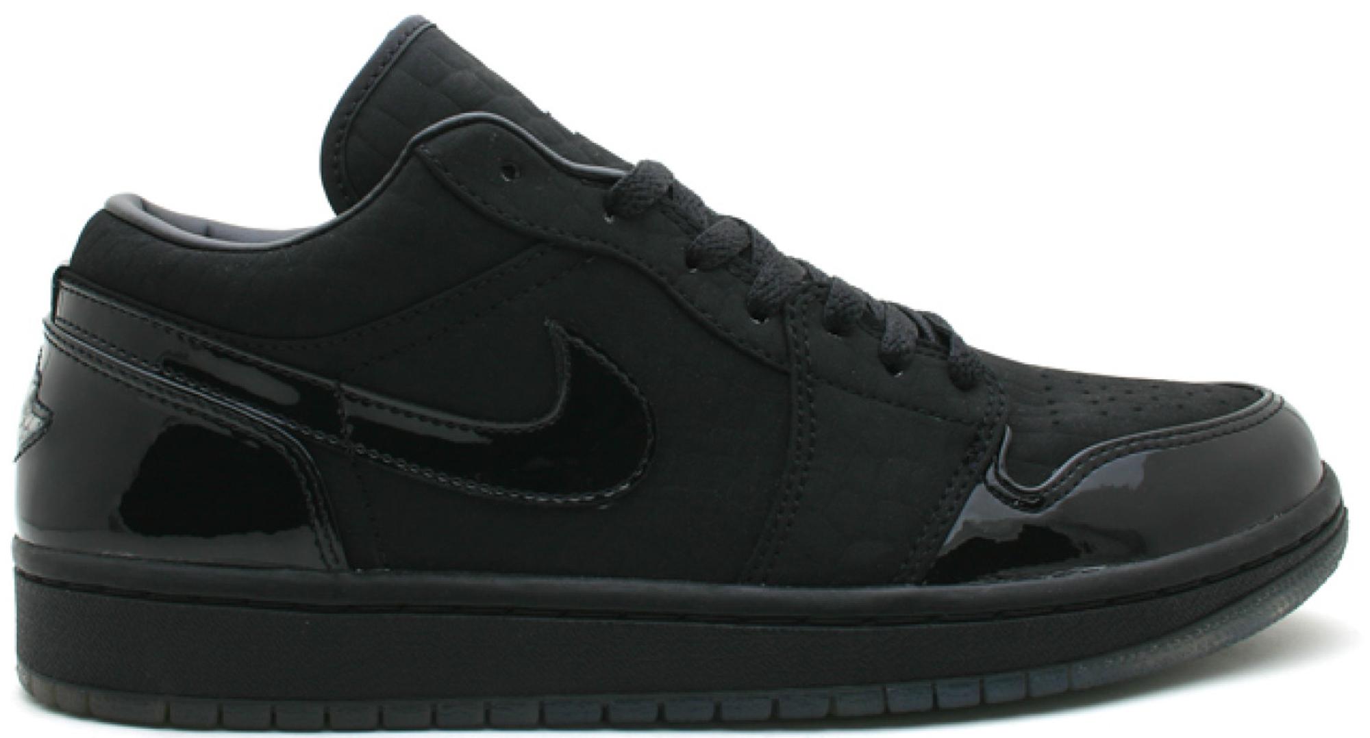 Jordan 1 Retro Low Black Croc