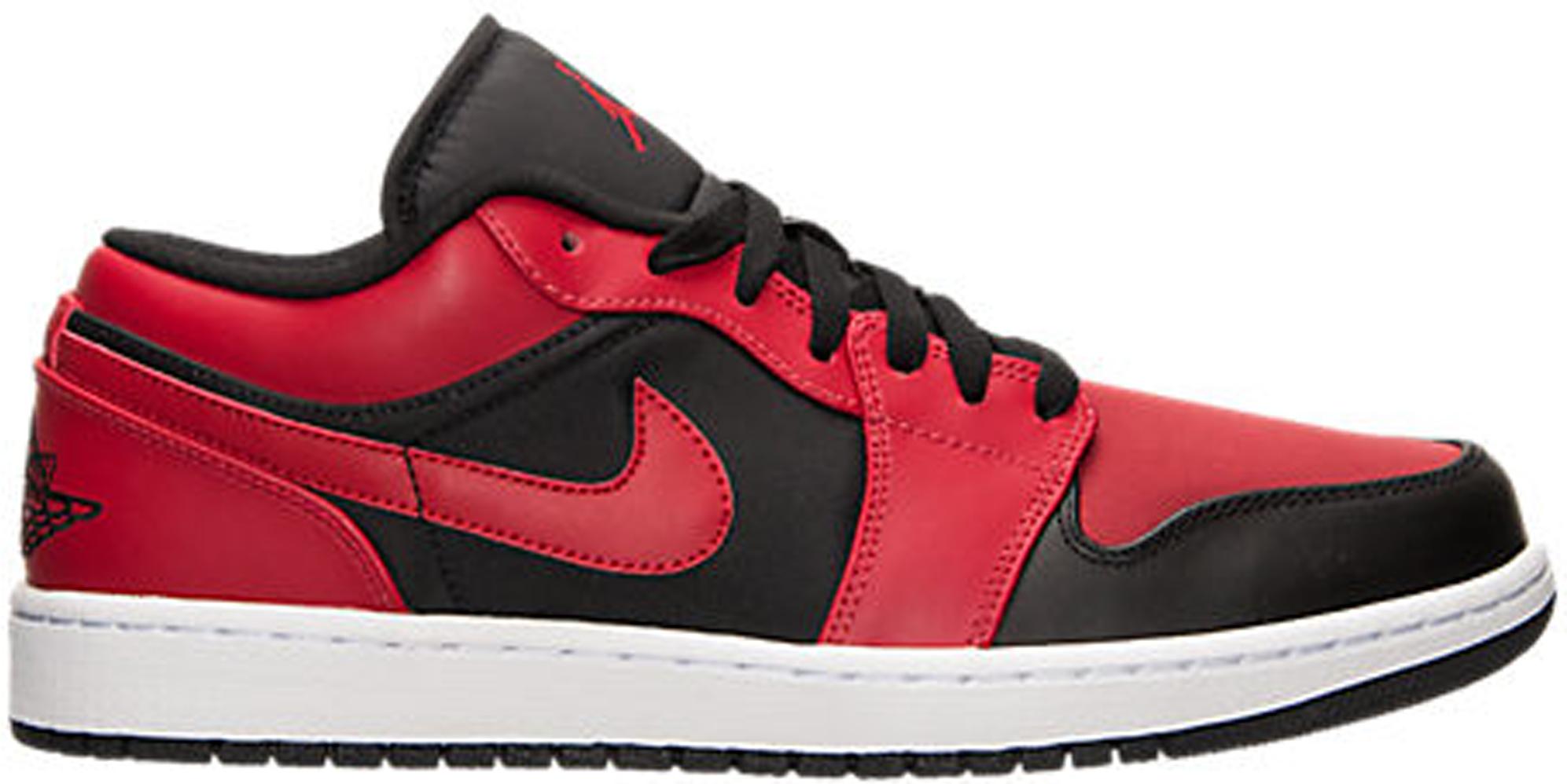 Jordan 1 Retro Low Black Gym Red
