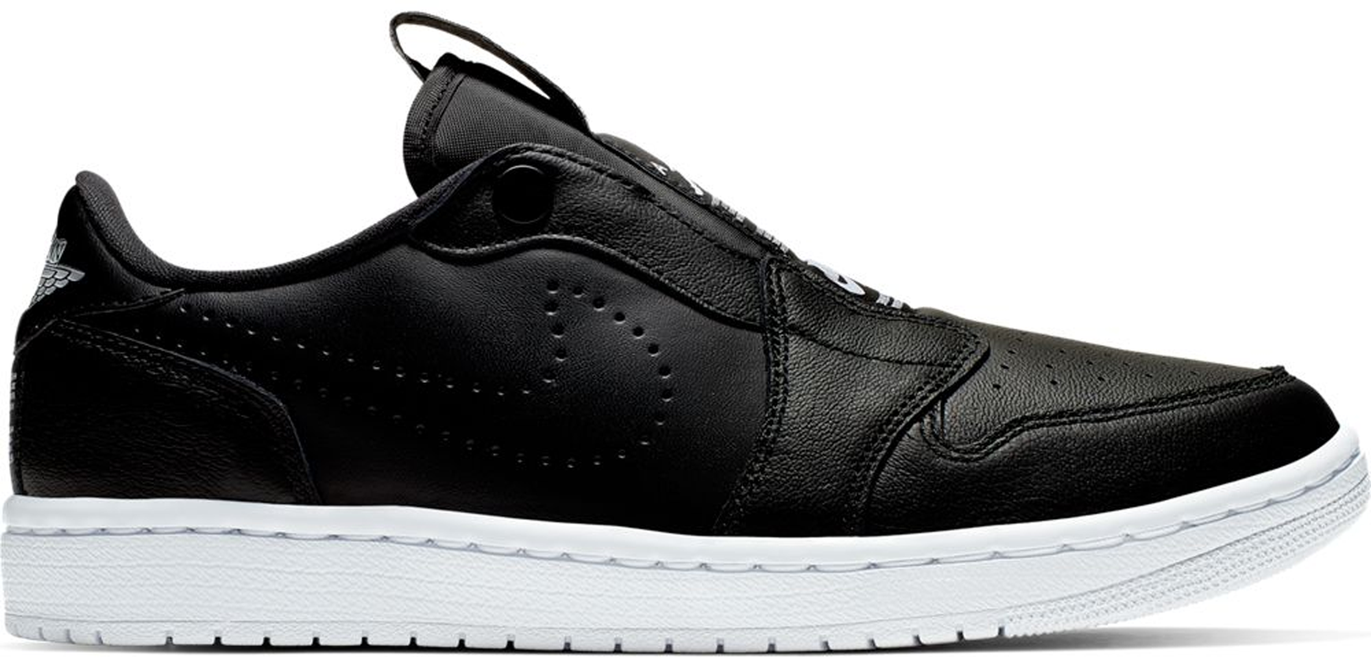 Jordan 1 Retro Low Slip Black White (W