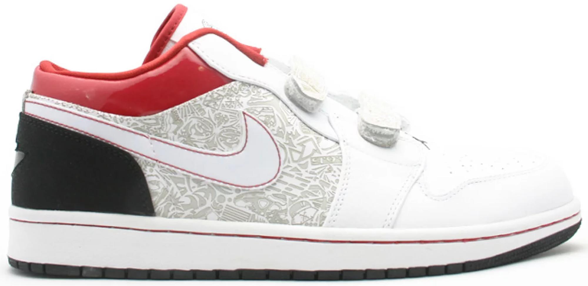 Jordan 1 Retro Low Velcro White Varsity