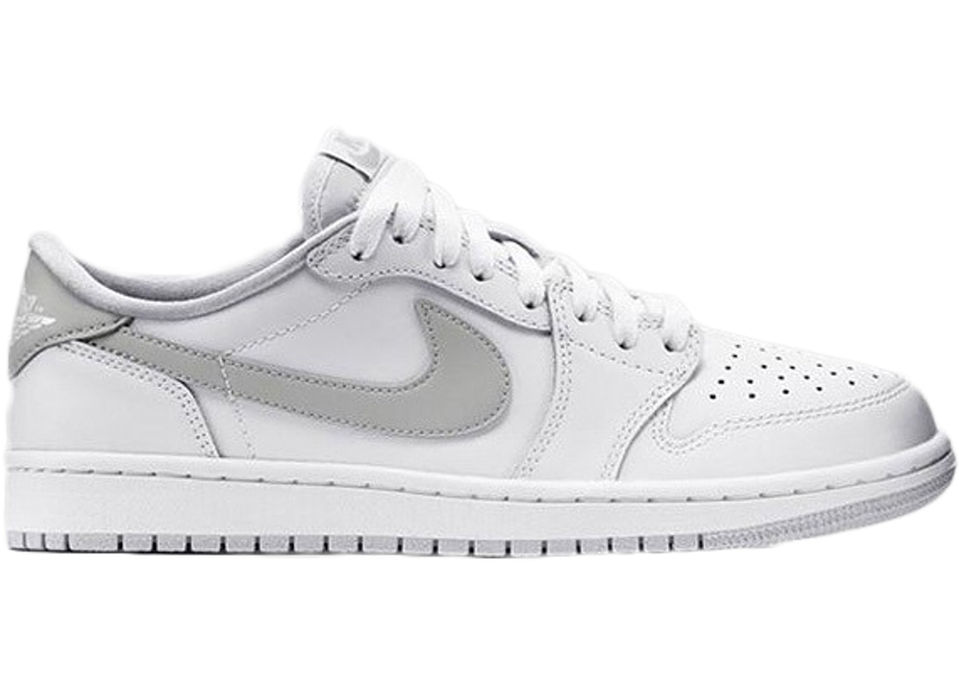 big sale 530d8 bc8eb Jordan 1 Retro Low White Neutral Grey