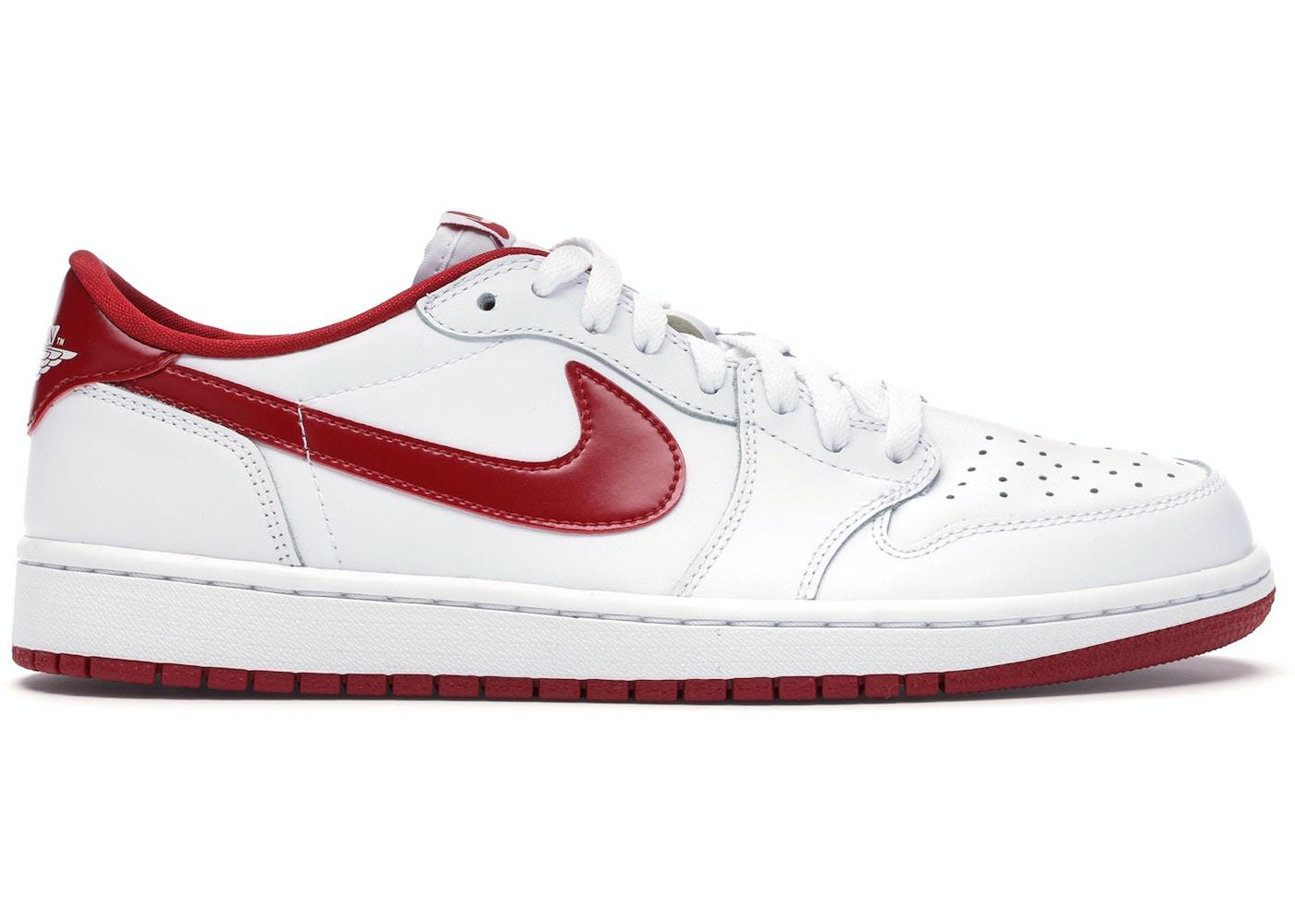 Jordan 1 Retro Low White Varsity Red 705329 101