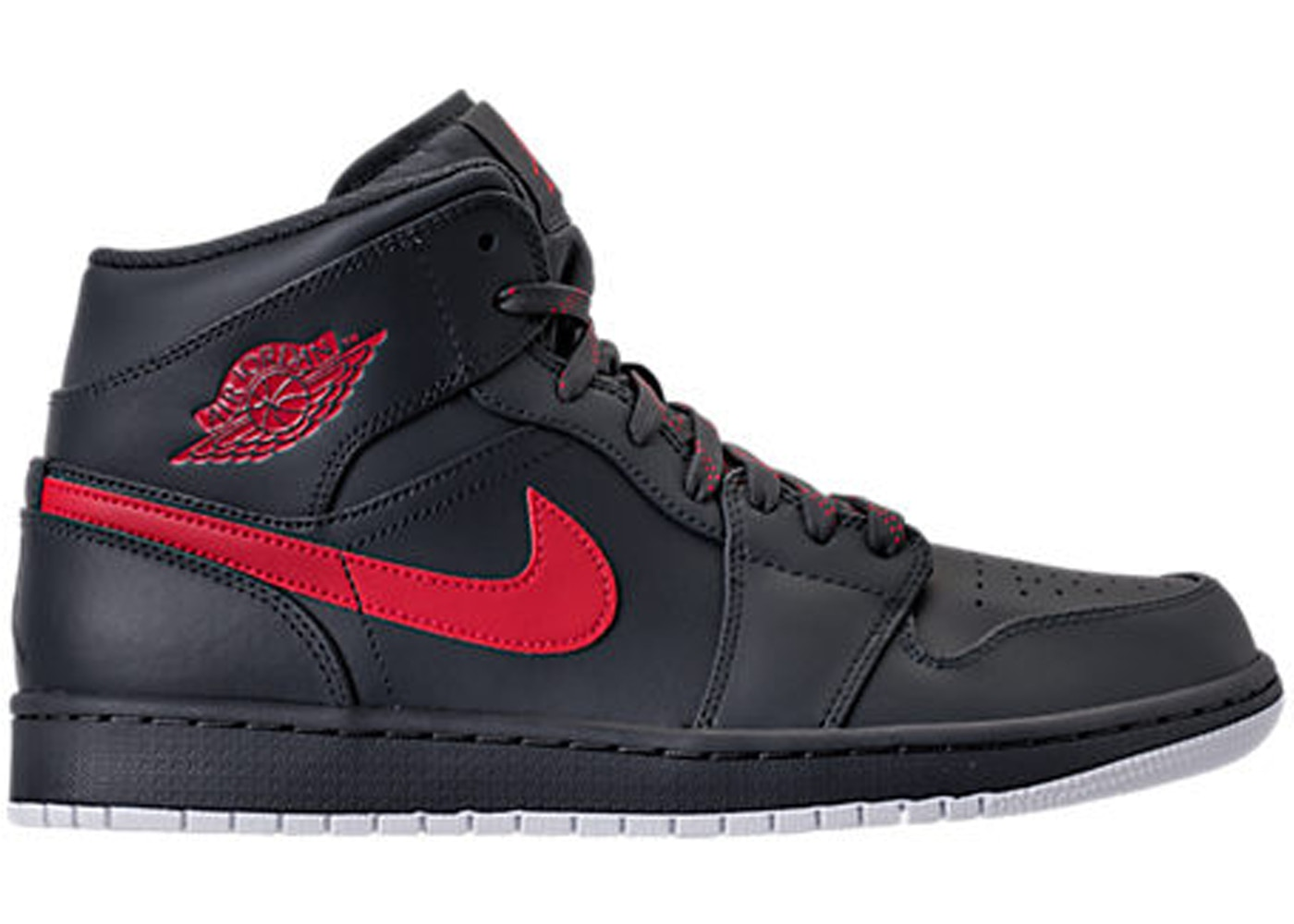 quality design b49e6 535d1 Jordan 1 Retro Mid Anthracite Gym Red