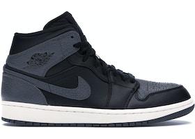 1bade912131 Jordan 1 Retro Mid Black Dark Grey - 554724-041