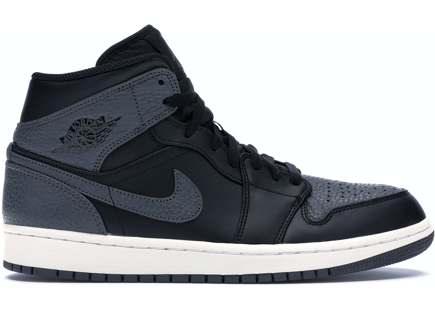 61d302e334a Jordan 1 Retro Mid Black Dark Grey - 554724-041