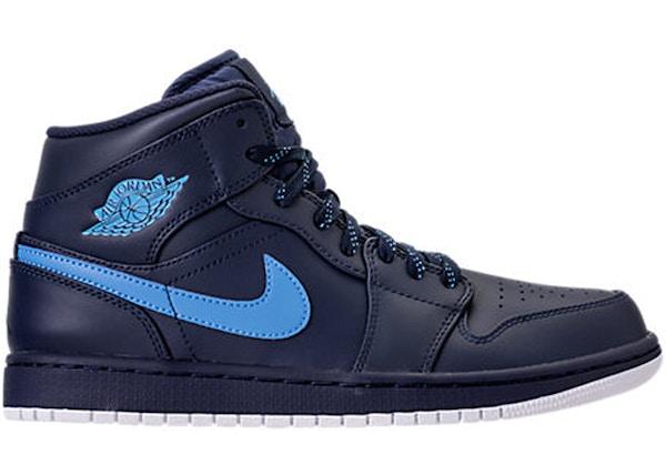 low priced 3391a 04189 Jordan 1 Retro Mid Obsidian University Blue - 554724-405