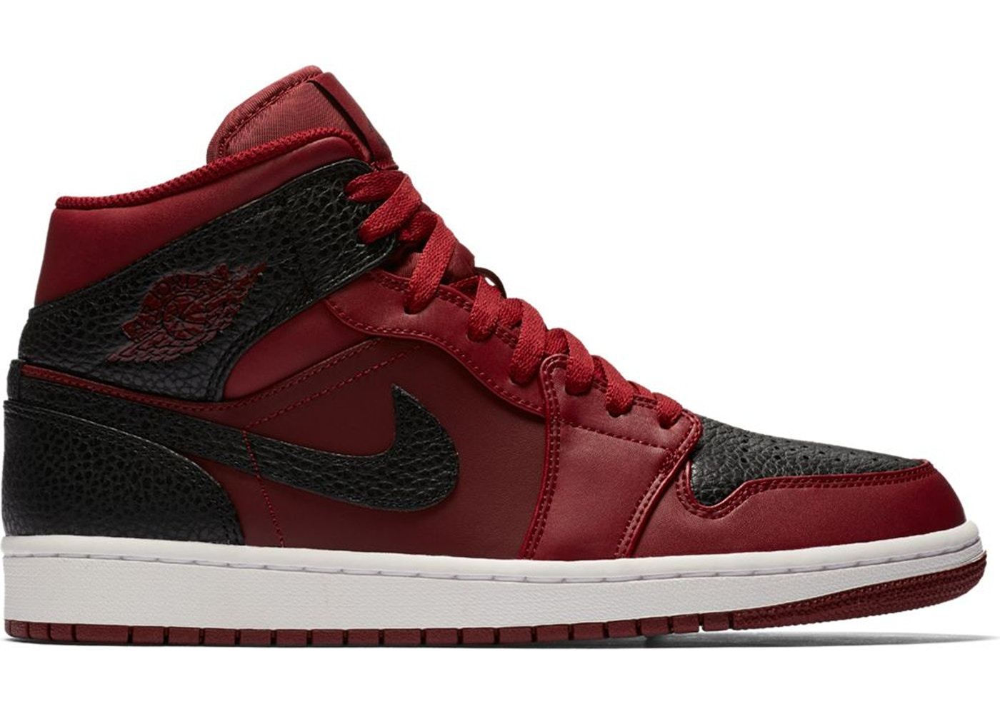 49989d6918d4 Jordan 1 Retro Mid Team Red Black - 554724-601