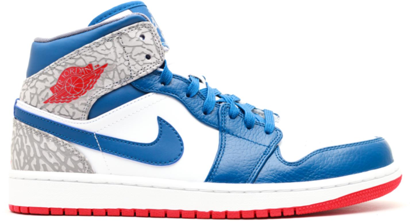Jordan 1 Retro Mid True Blue - 554724-107