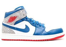 Jordan 1 Retro Mid True Blue 554724 107