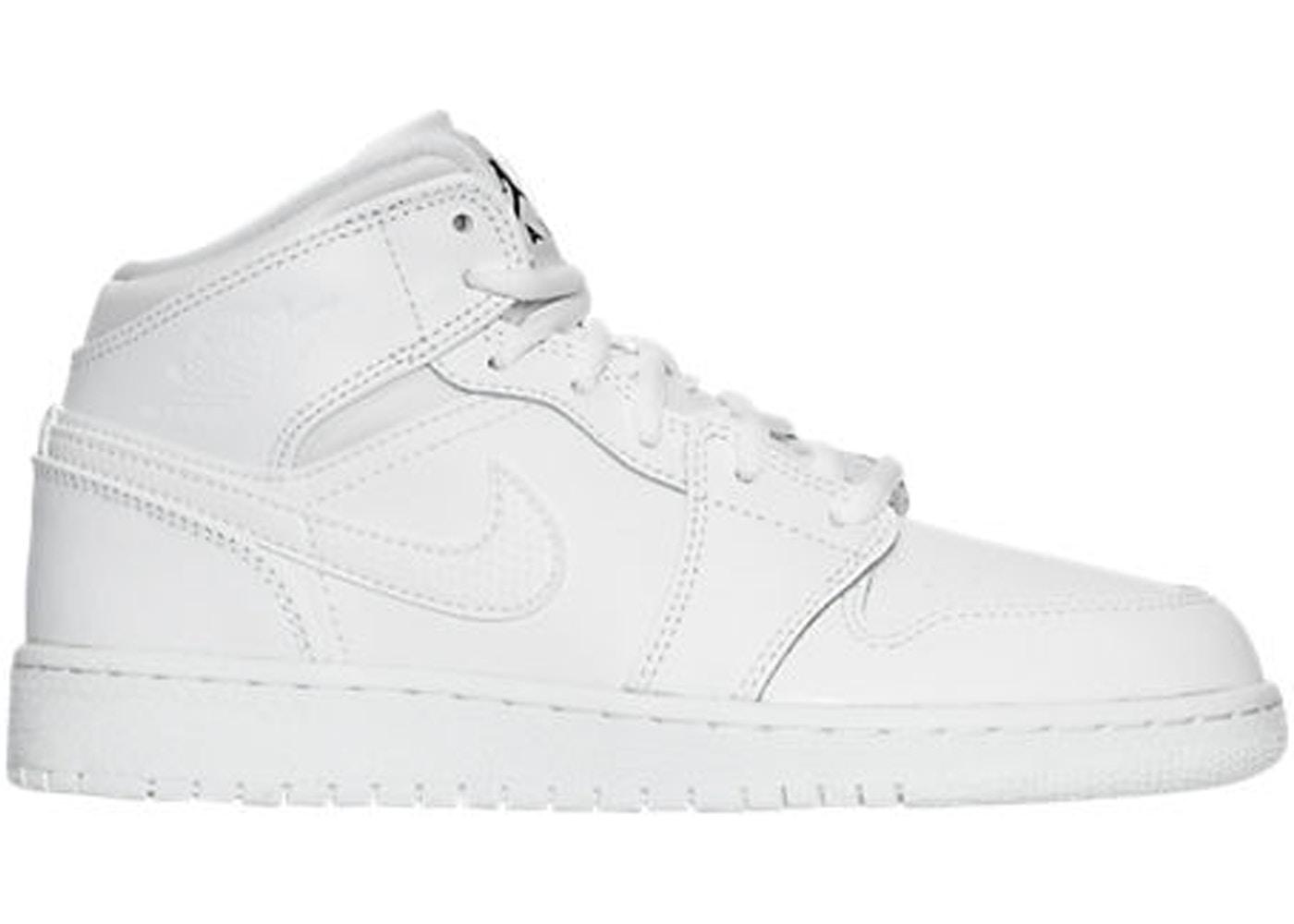 Jordan 1 Retro Mid White 2017 Gs 554725 110