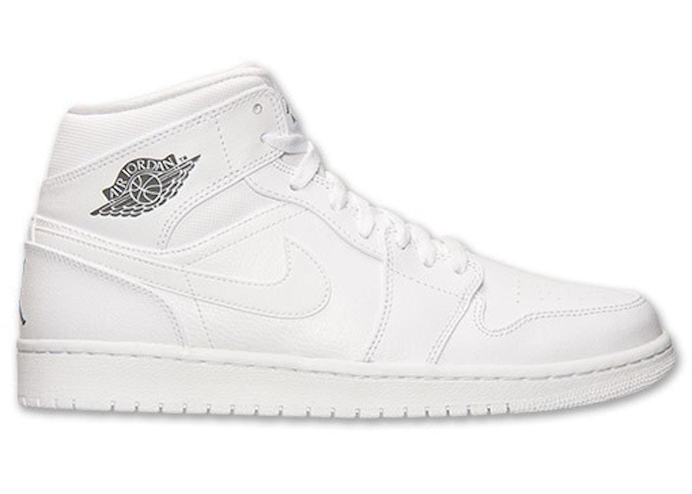 d76512f76a0f Jordan 1 Retro Mid White Cool Grey - 554724-102