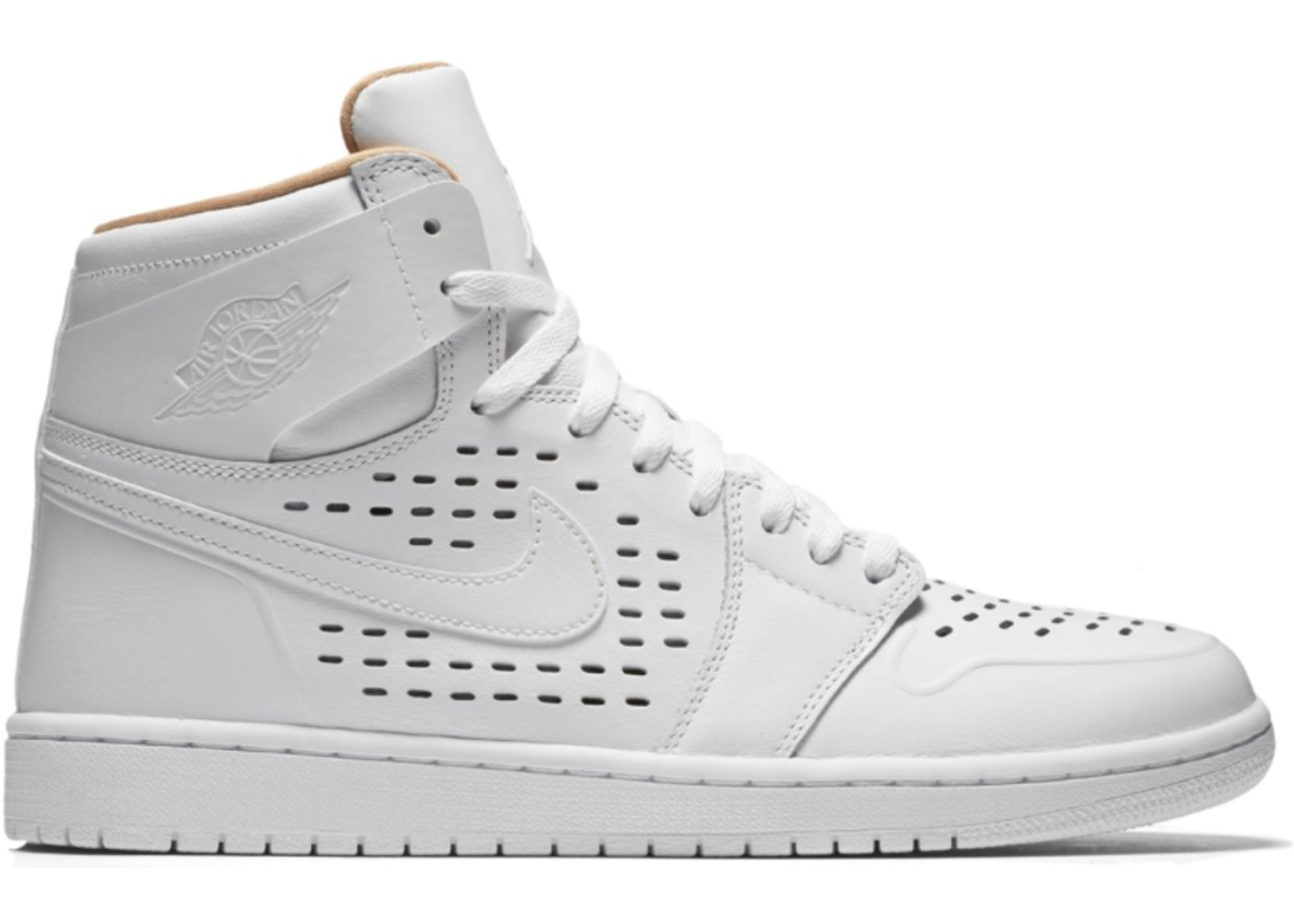 detailed look 5efc9 42809 Jordan 1 Retro White Vachetta Tan