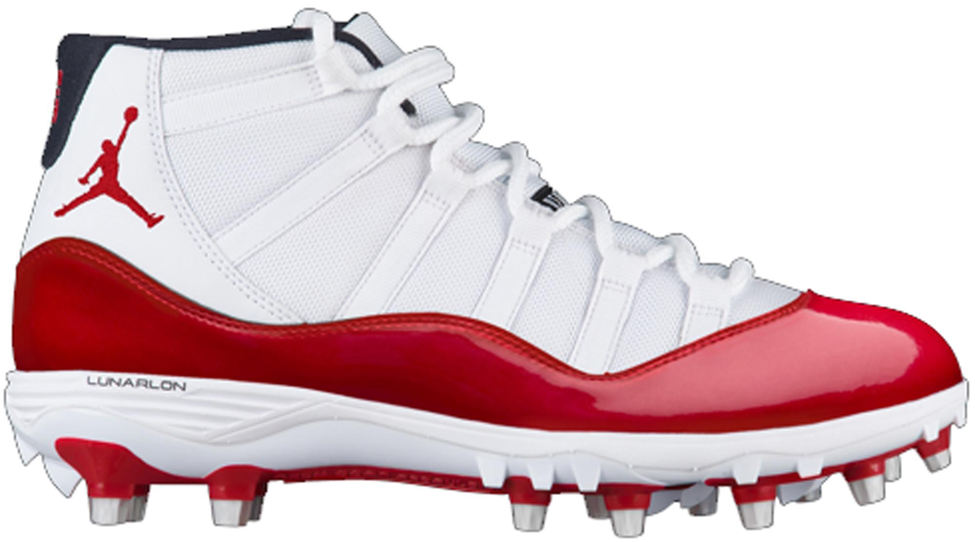 Jordan 11 Retro Cleat White Red