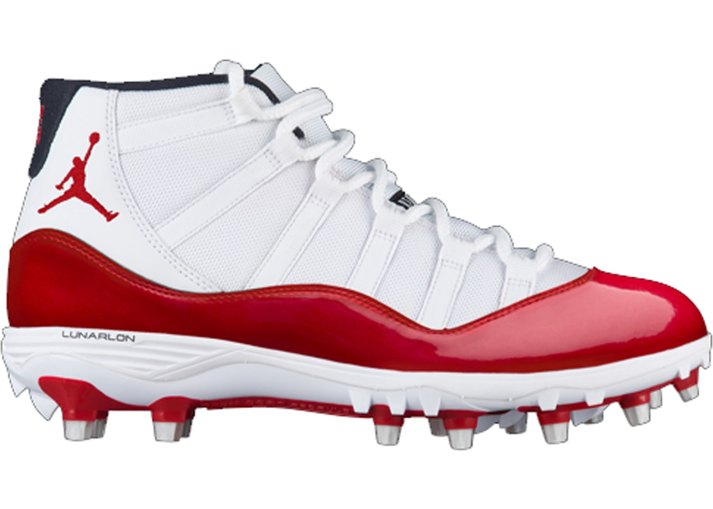separation shoes a8560 eb9bd Jordan 11 Retro Cleat White Red