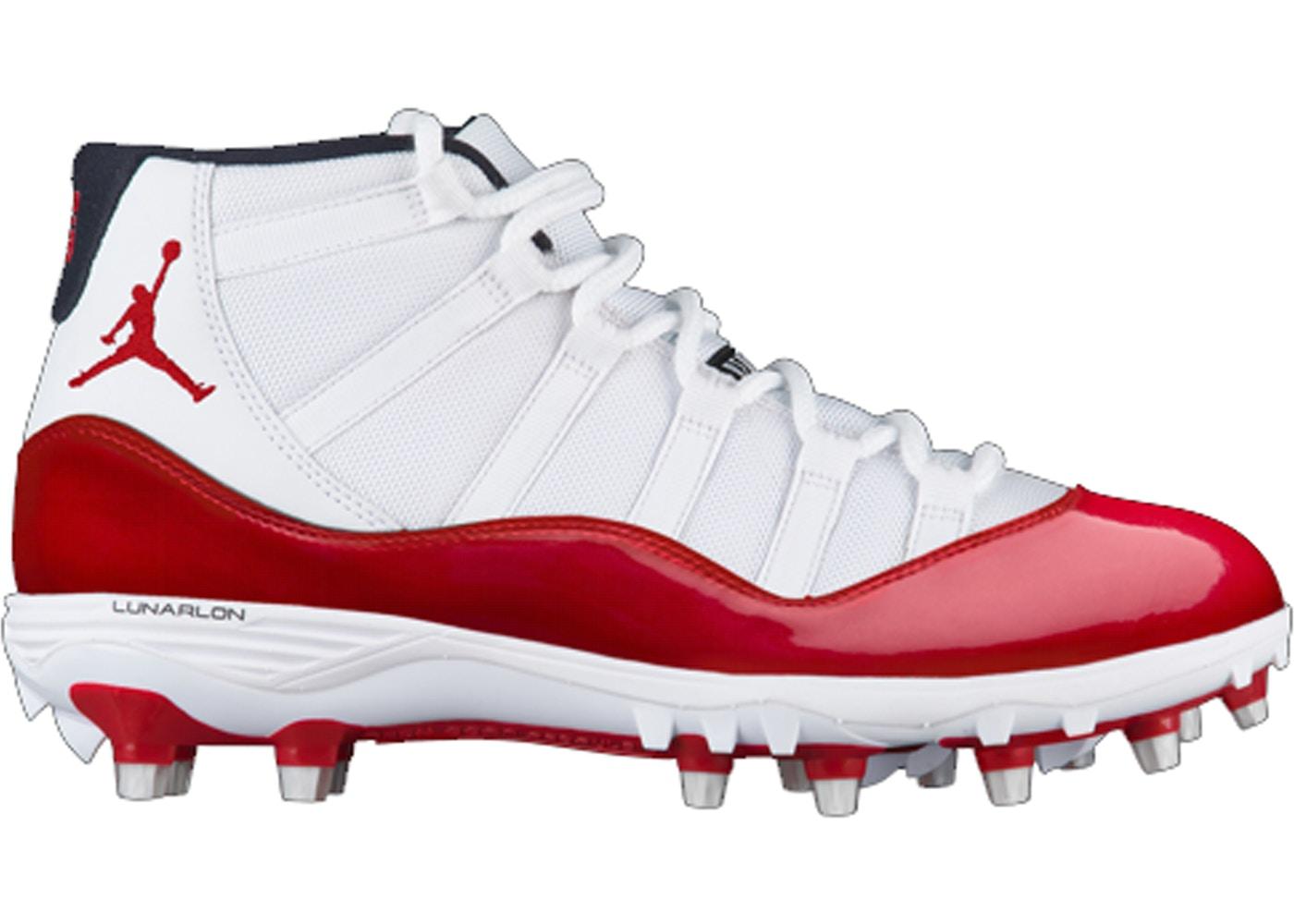 separation shoes 3278c e9108 Jordan 11 Retro Cleat White Red