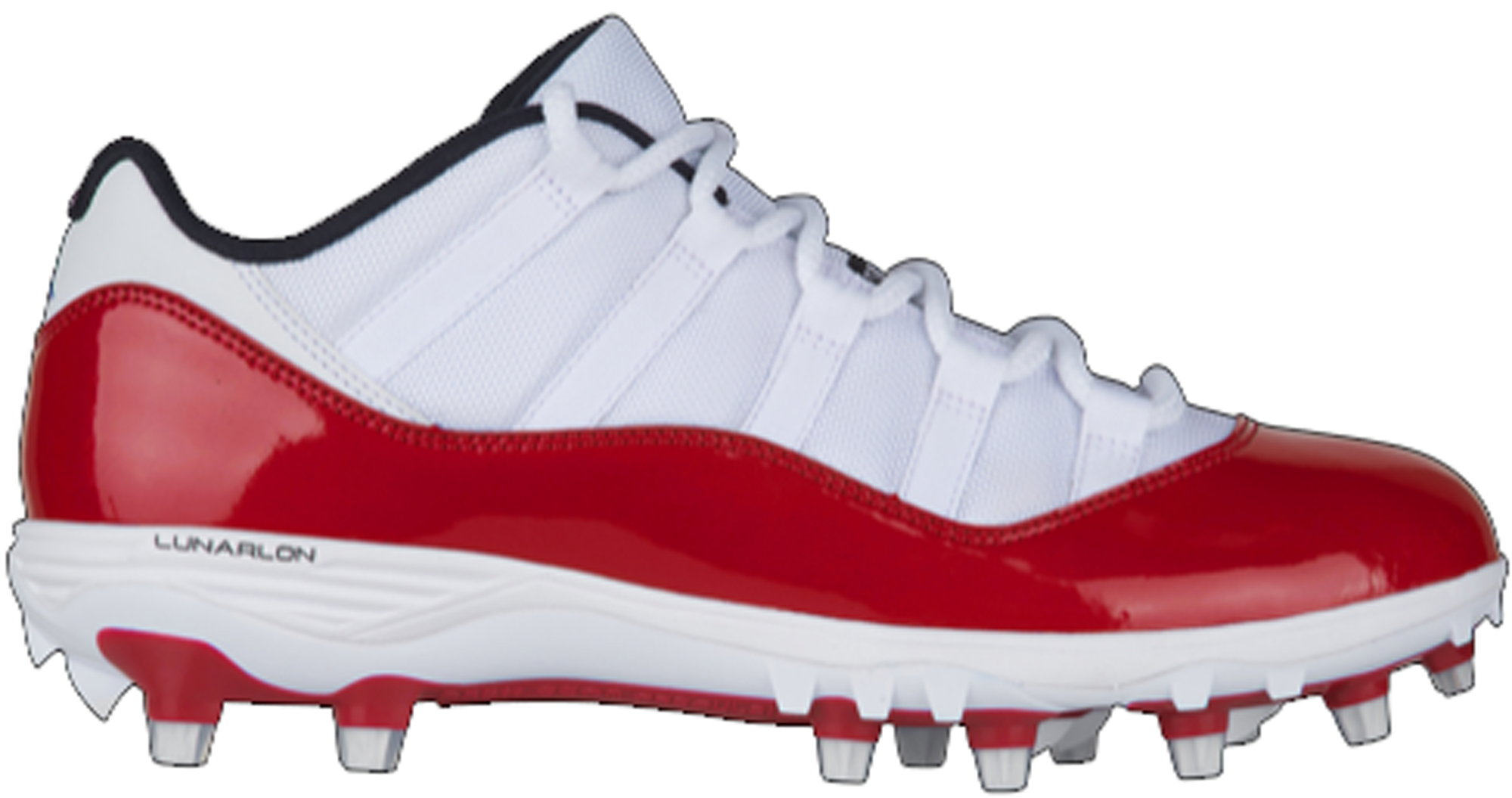 best sell delicate colors reliable quality 11 Retro Low Cleat White Red in White/Gym Red-Gym Red-Black