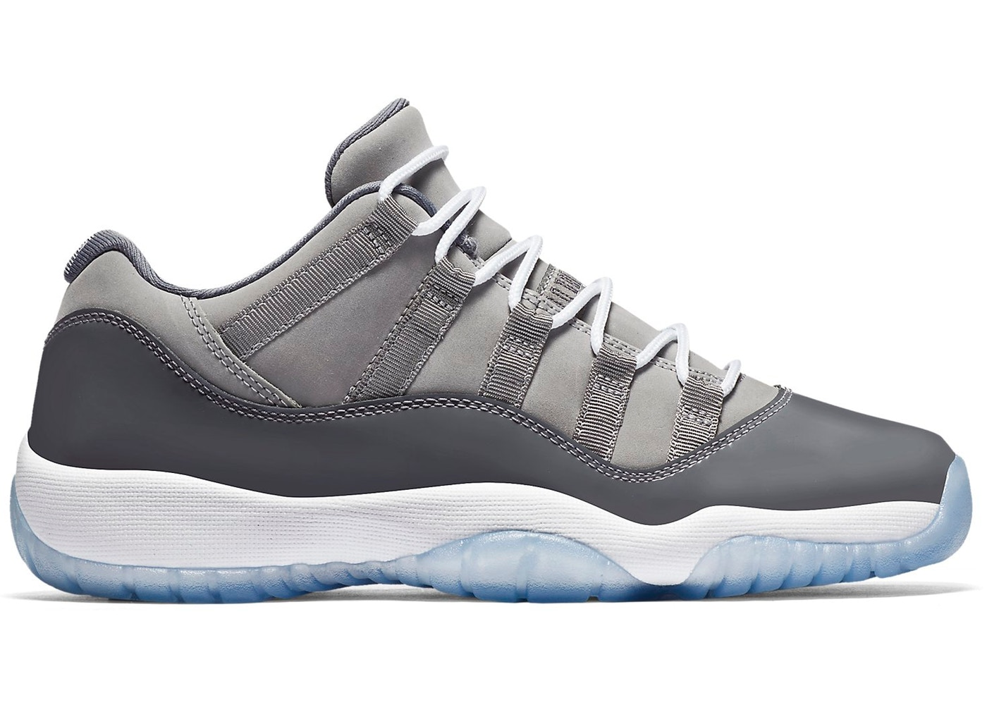 pretty nice 6d52b 2d74a Jordan 11 Retro Low Cool Grey (GS) - 528896-003