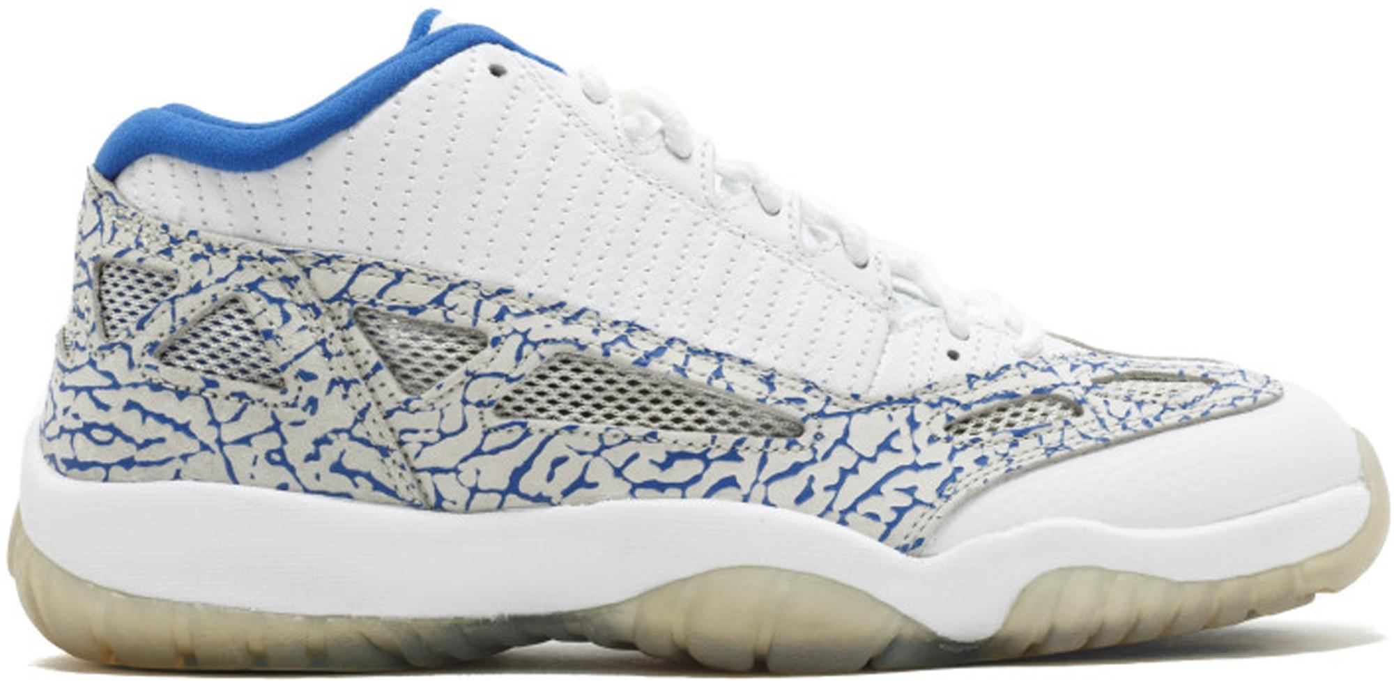 Jordan 11 Retro Low IE White Argon Blue
