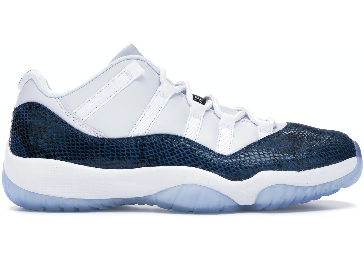 58b18e30e3edf Jordan 11 Retro Low Snake Navy (2019) - CD6846-102