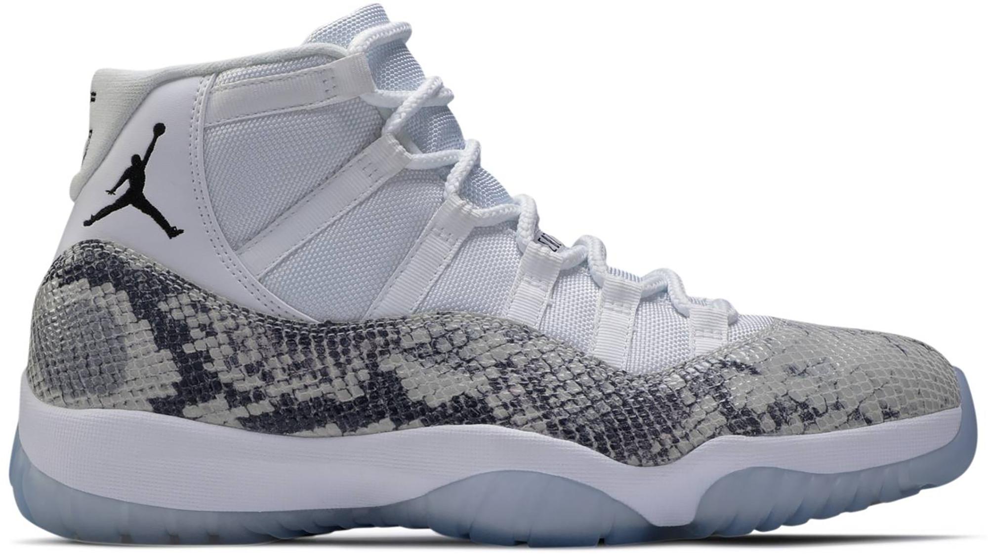 gray and white 11 jordans