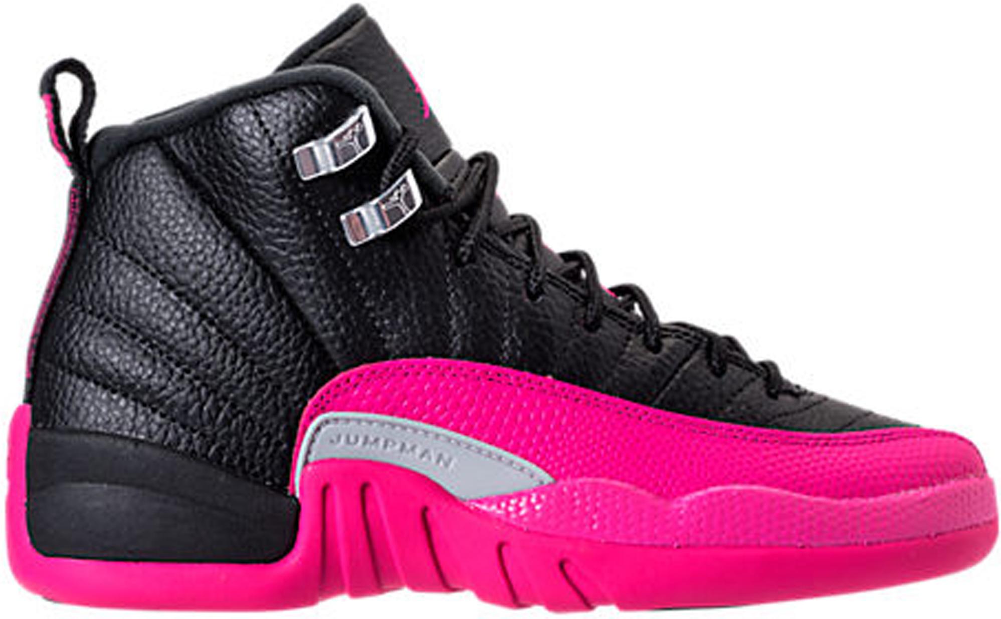 nike air jordan 12 retro pink and black
