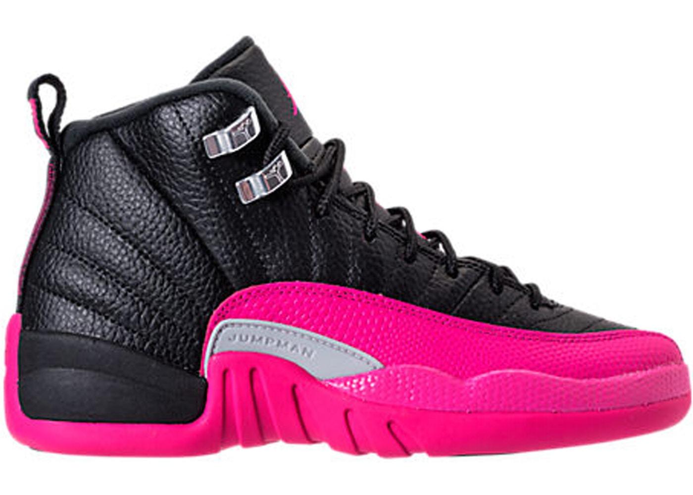 reputable site 86587 f28d0 ... Jordan 12 Retro Black Deadly Pink (GS)  Air Jordan ...