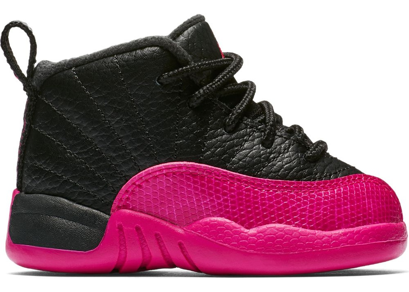 info for 73812 20538 Jordan 12 Retro Black Deadly Pink (TD)