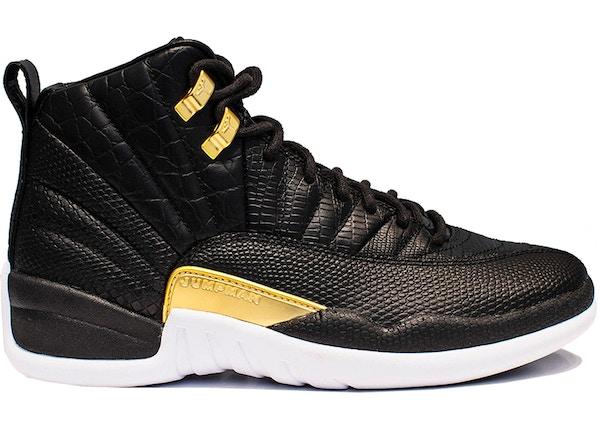 best sneakers 26897 987c0 Jordan 12 Retro Black Metallic Gold White (W)