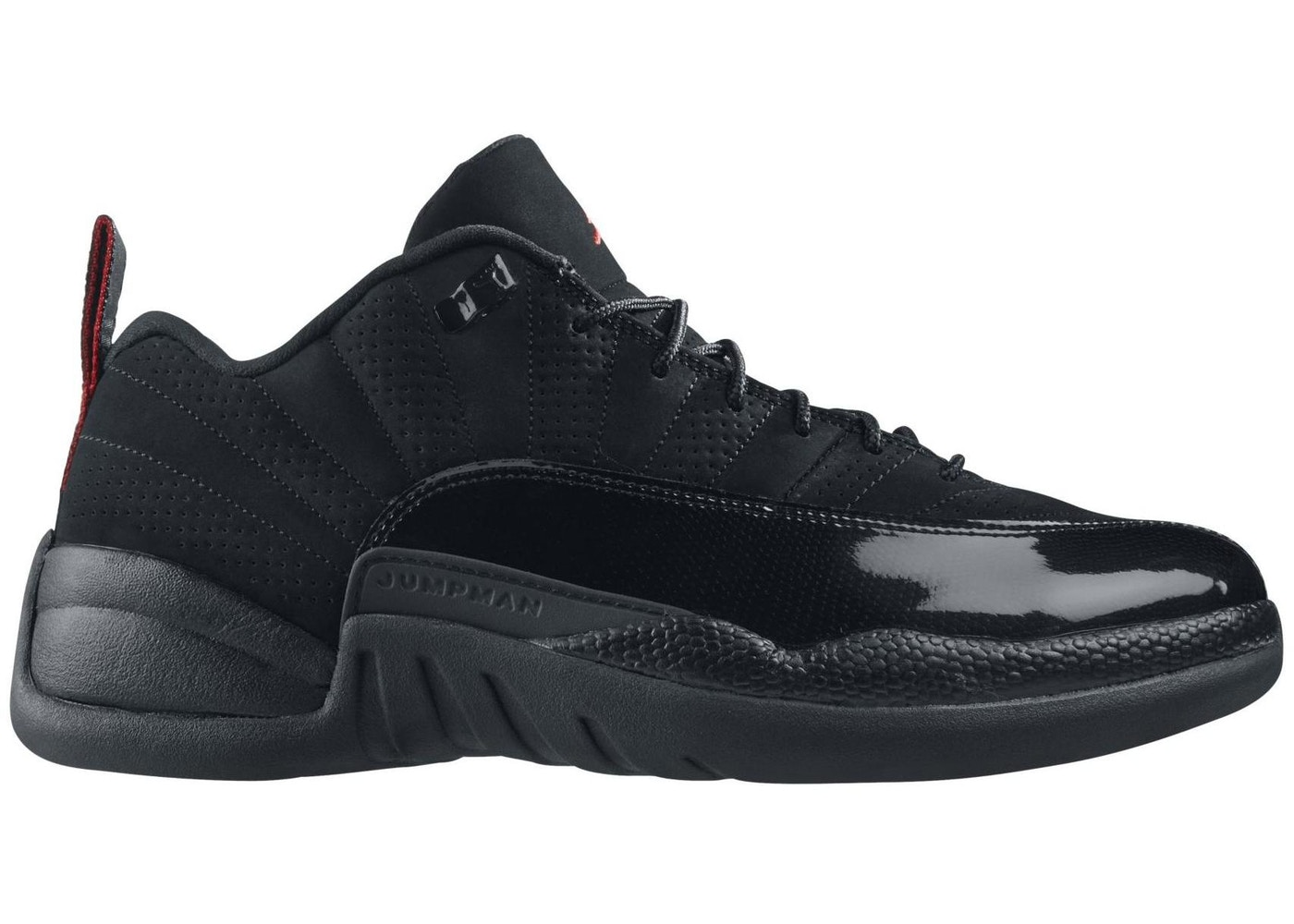 020a39b46576 Jordan 12 Retro Low Black Patent - 308317-001