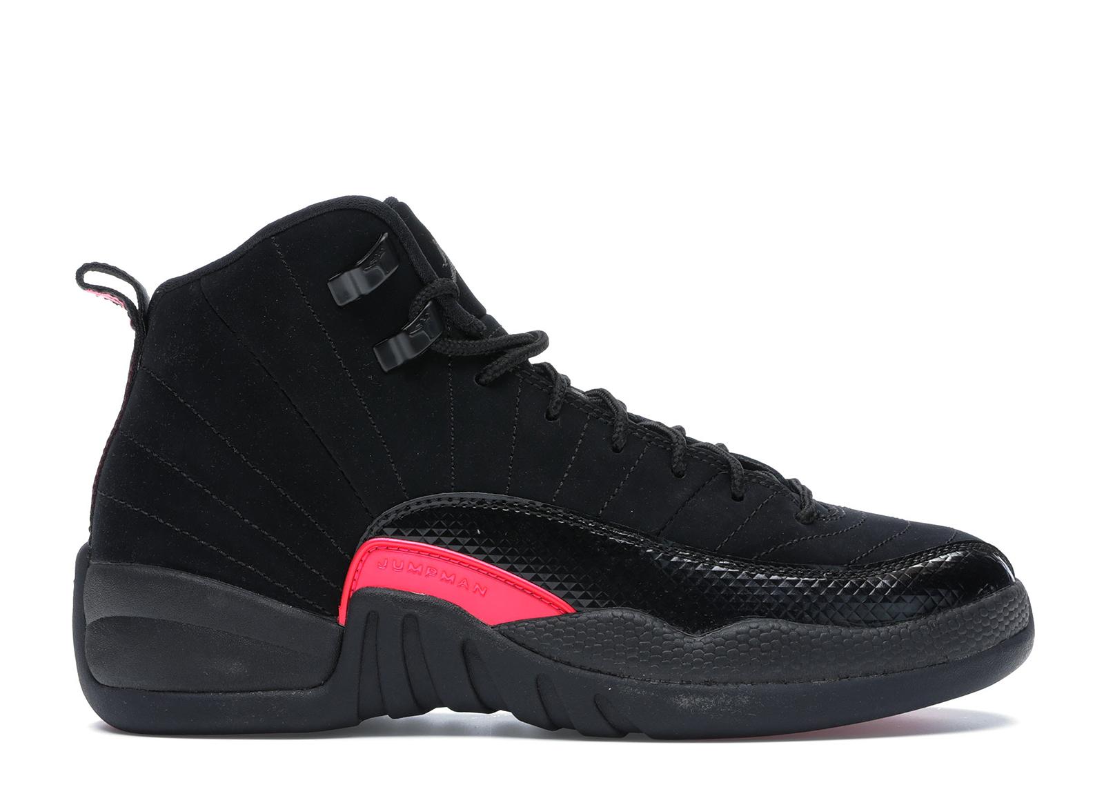 Jordan 12 Retro Black Rush Pink (GS