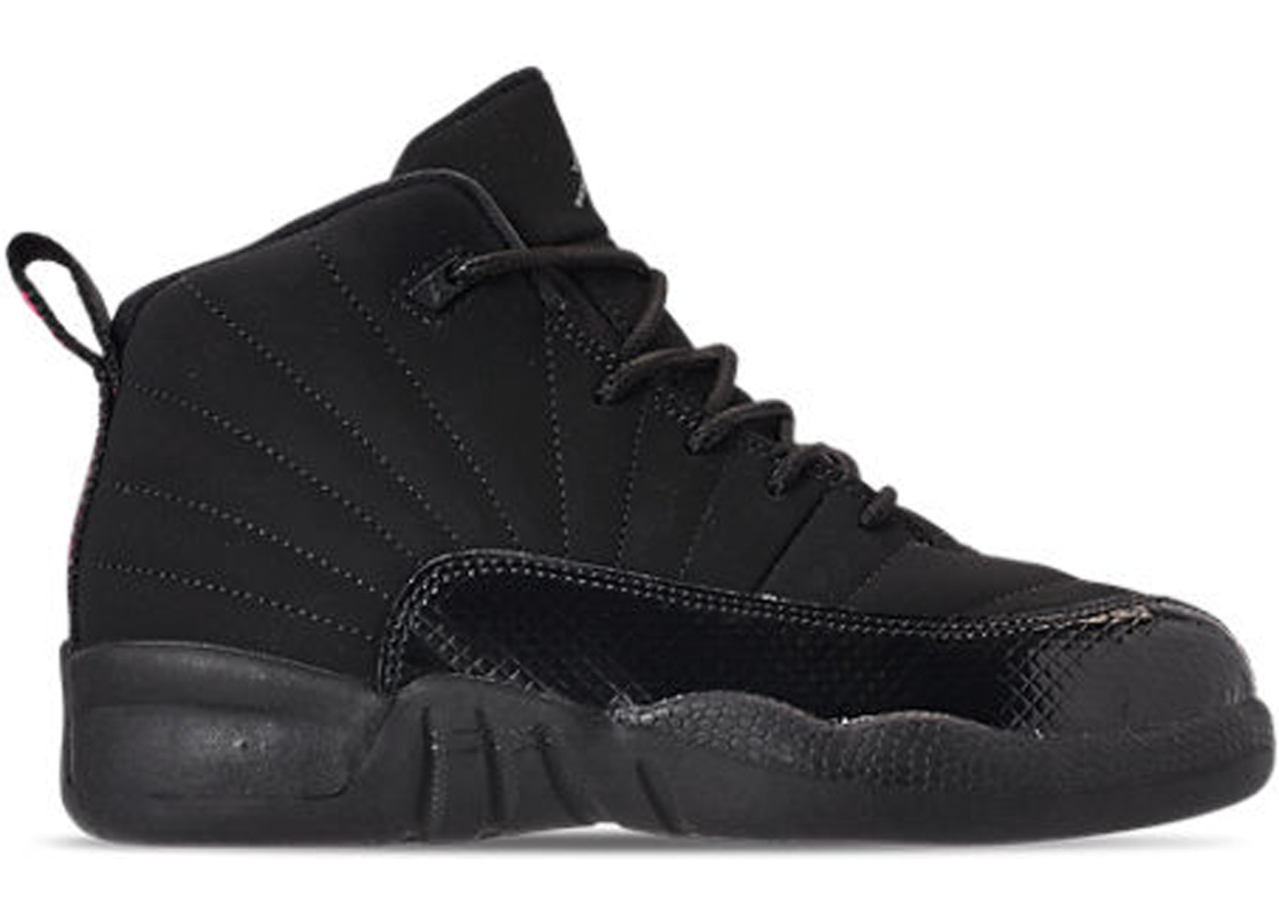 huge discount b494d 142e1 Jordan 12 Retro Black Rush Pink (PS)