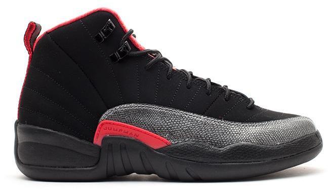Jordan 12 Retro Black/Siren Red (GS