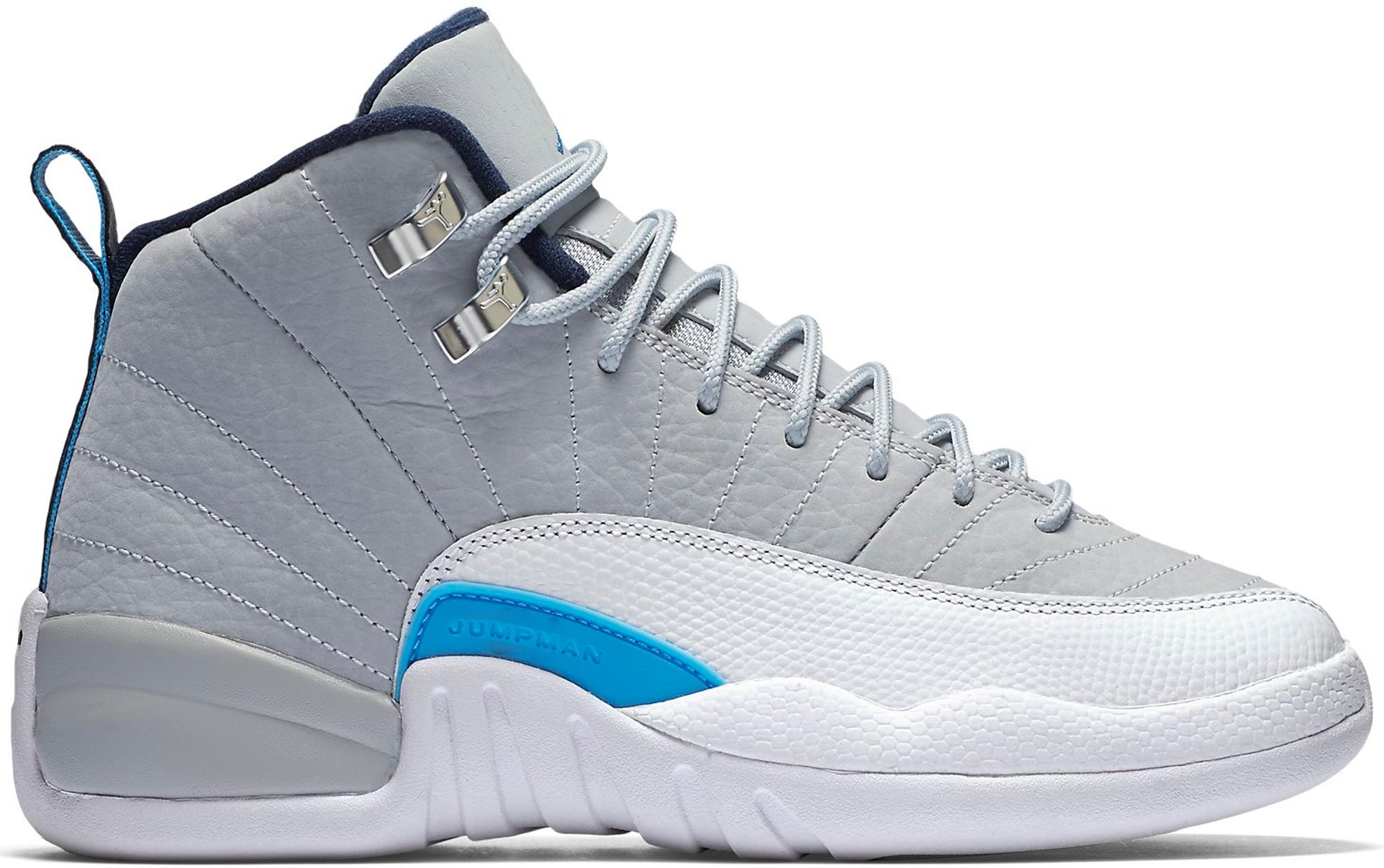 Jordan 12 Retro Grey University Blue (GS)