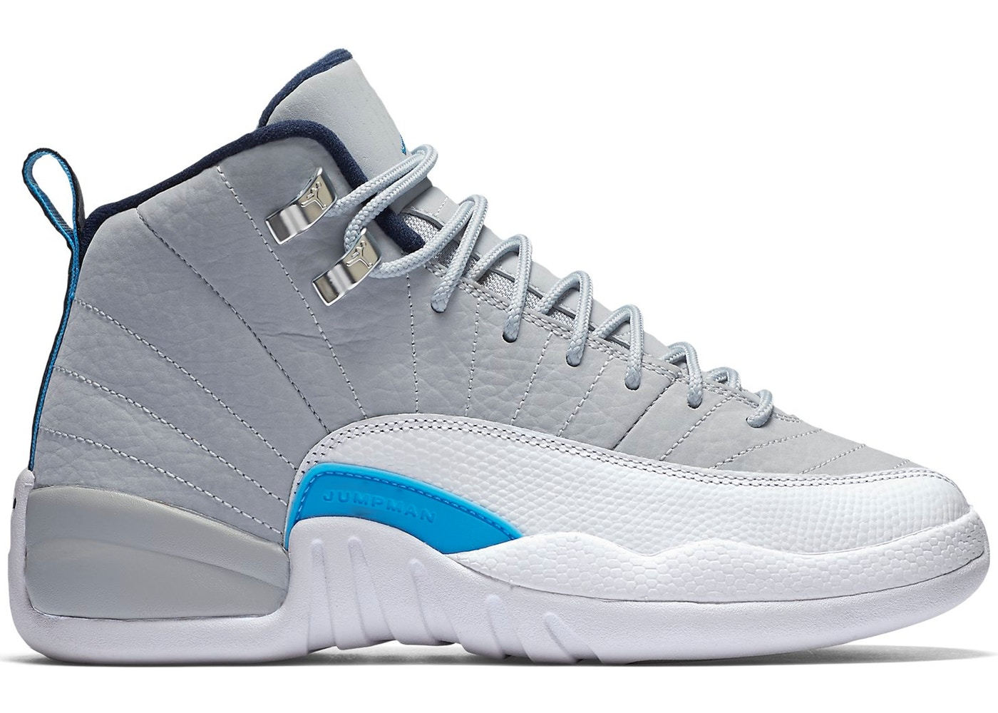 a3432fa6b788 Jordan 12 Retro Grey University Blue (GS) - 153265-007