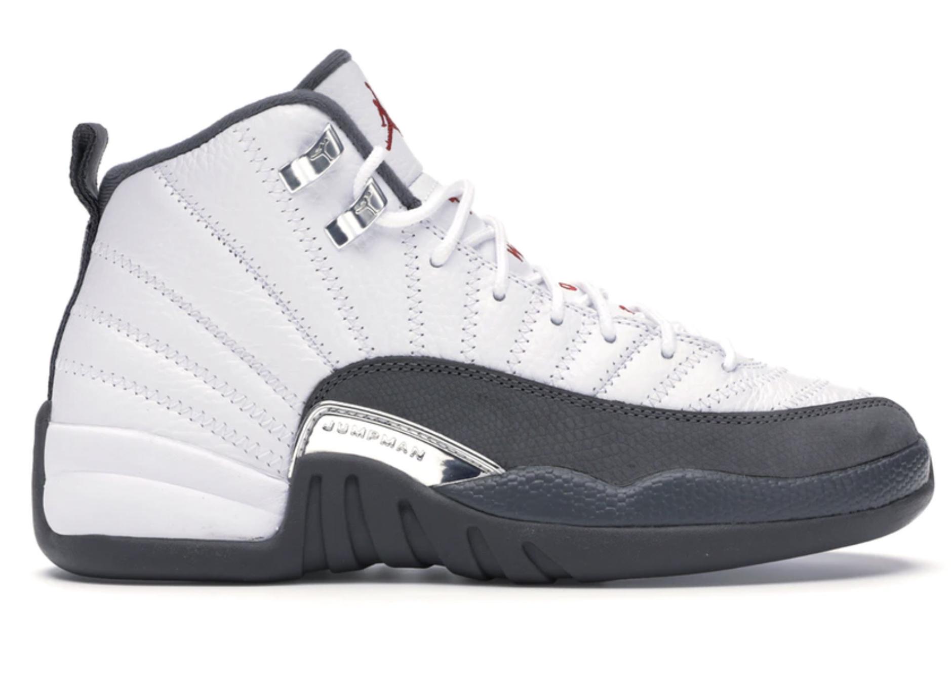 Jordan 12 Retro White Dark Grey (GS