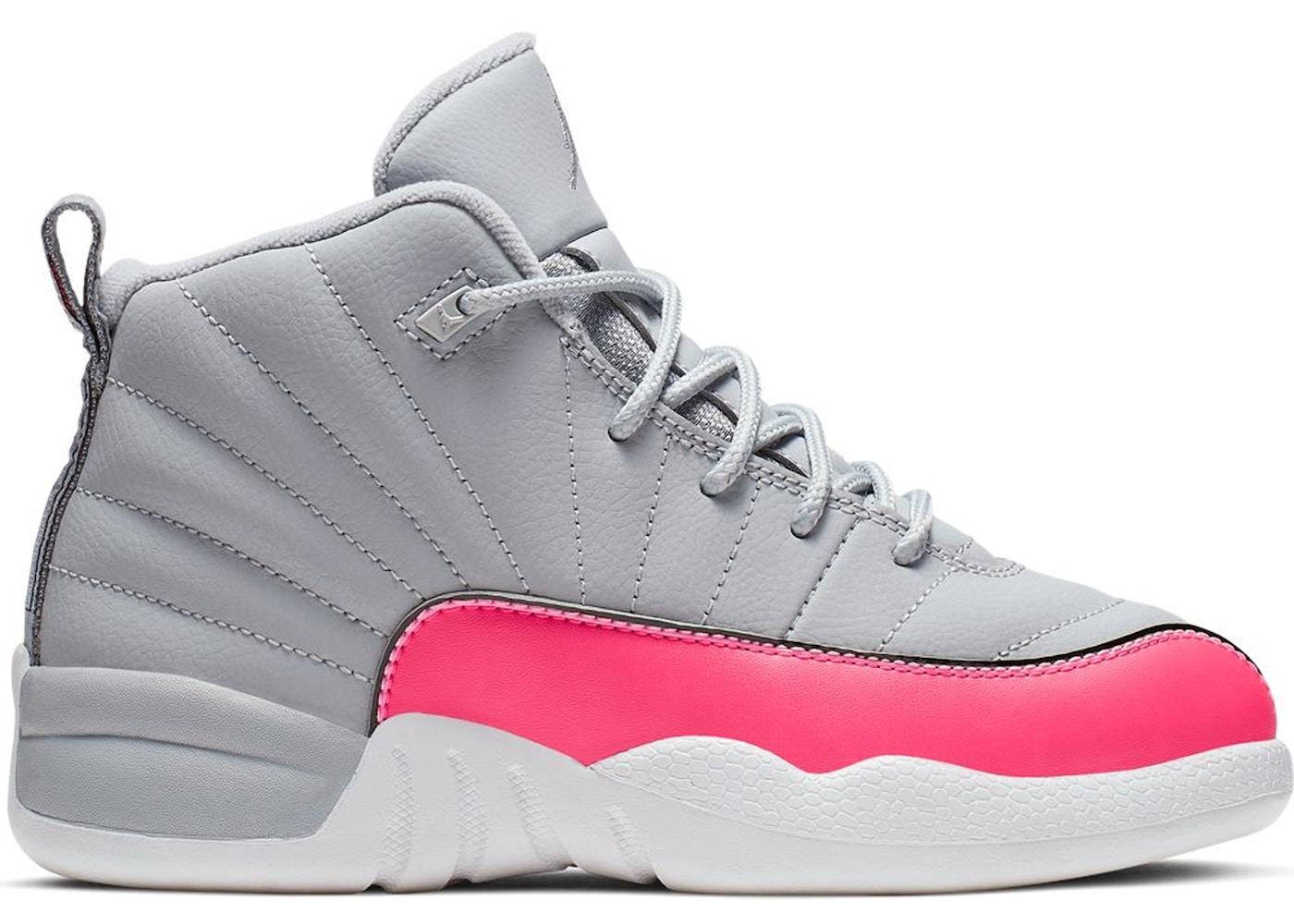 los angeles 45a41 28997 Jordan 12 Retro Wolf Grey Racer Pink (PS)