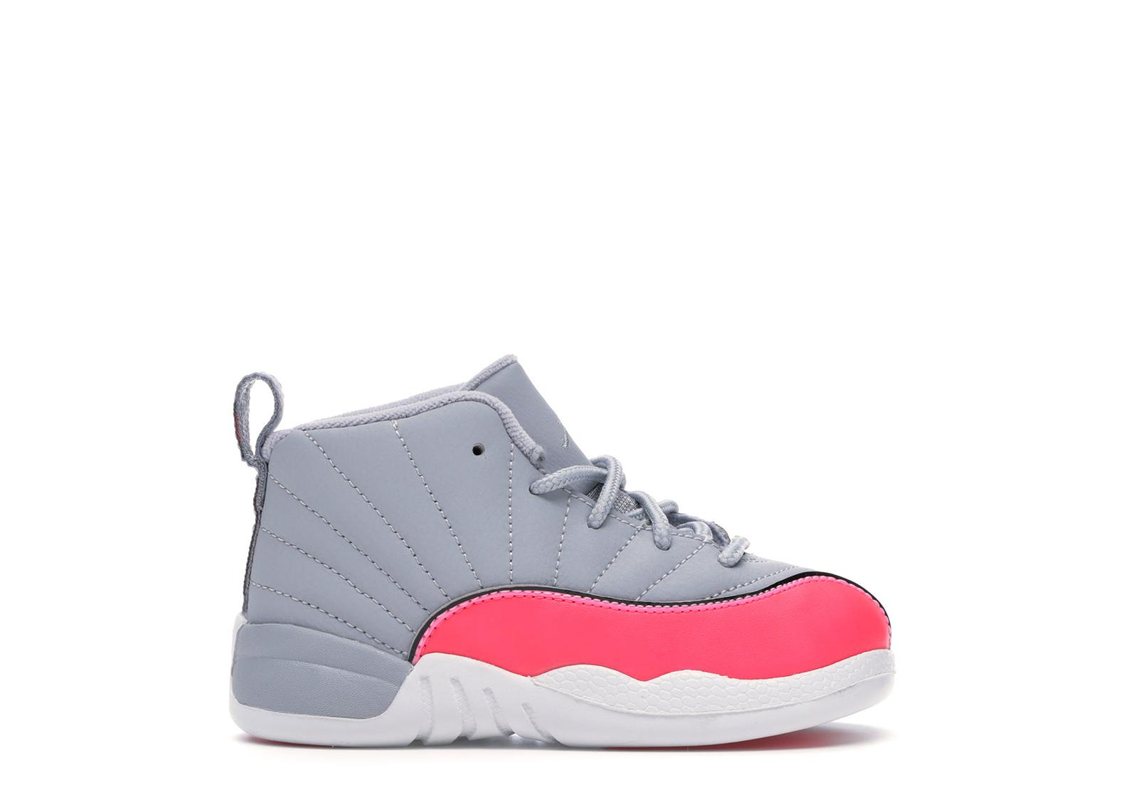 Jordan 12 Retro Wolf Grey Racer Pink