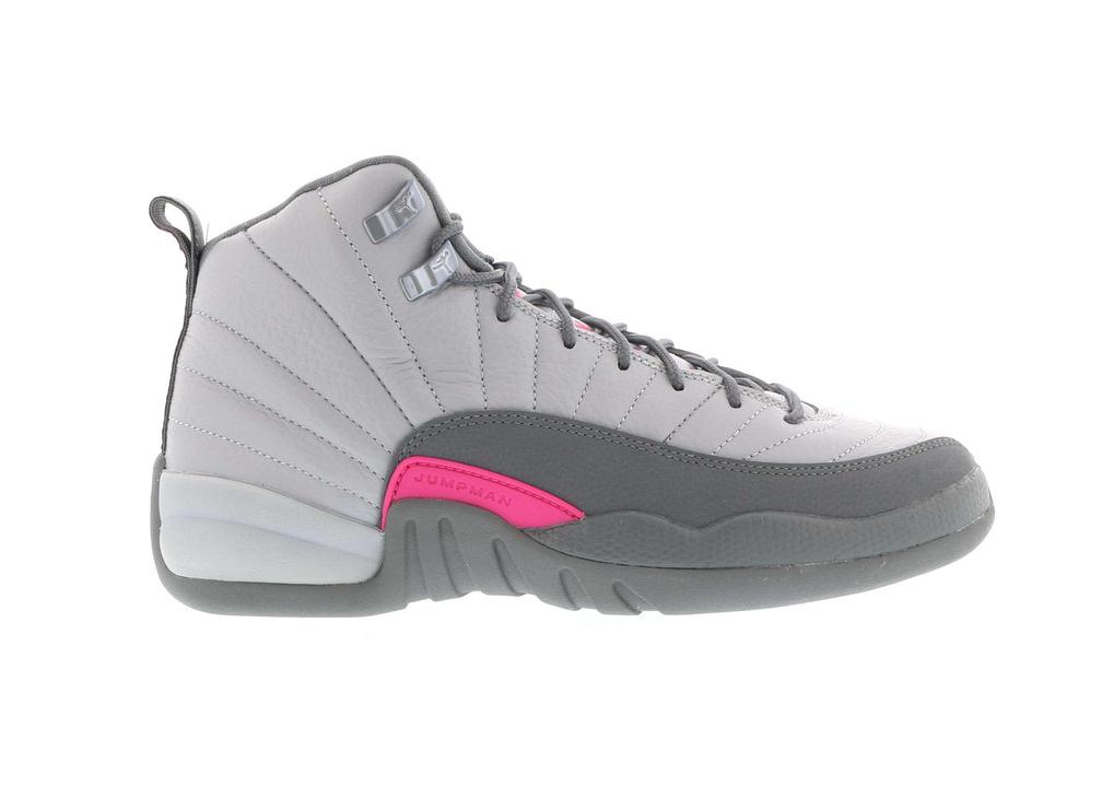Jordan 12 Retro Wolf Grey Vivid Pink