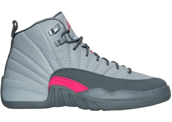 huge discount d910c 7a75e Jordan 12 Retro Wolf Grey Vivid Pink (GS)