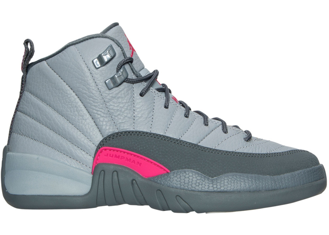 huge discount 3f122 49230 Jordan 12 Retro Wolf Grey Vivid Pink (GS)