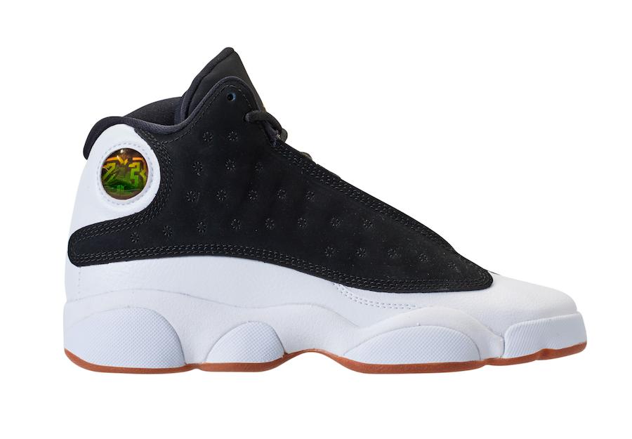 Jordan 13 Retro Black White Gum (GS)