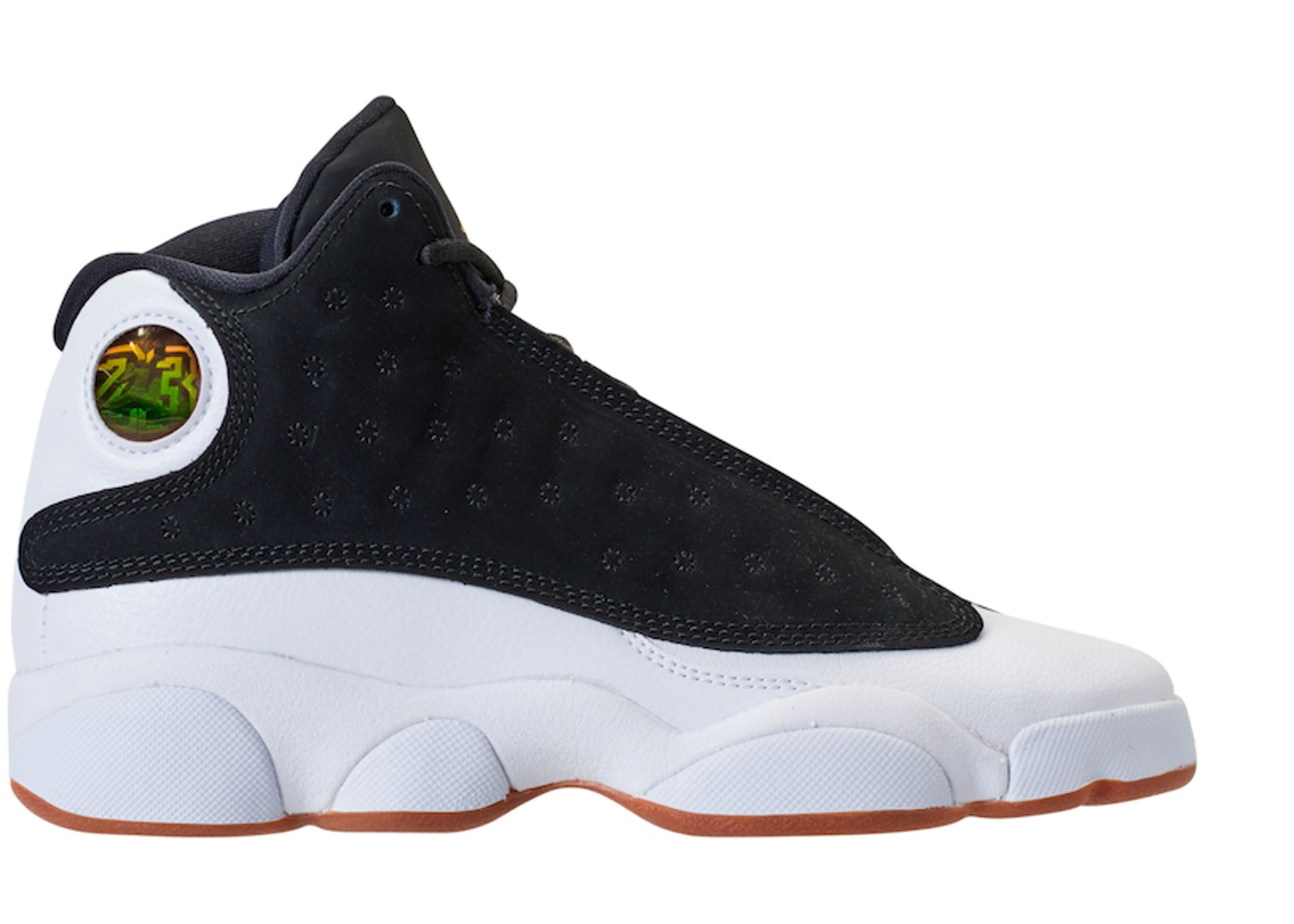 cheap for discount c122c 27d09 Jordan 13 Retro Black White Gum (GS) - 439358-021