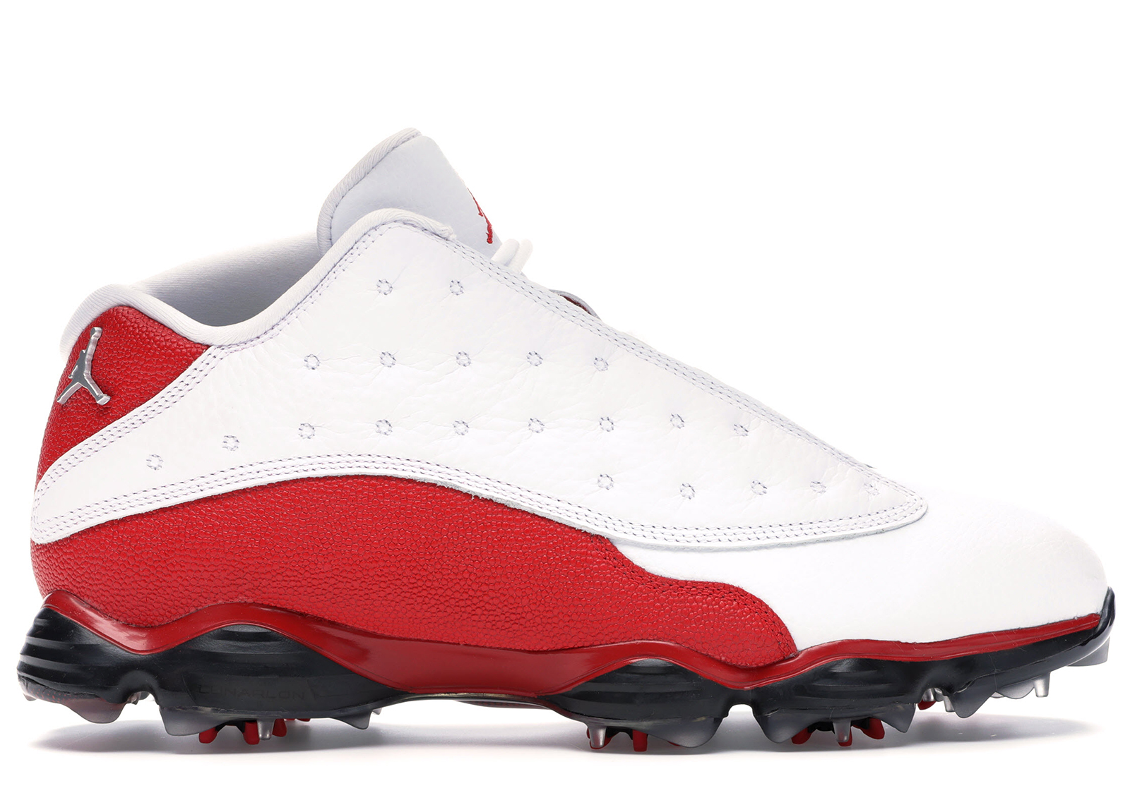 Jordan 13 Retro Golf Cleat White Red