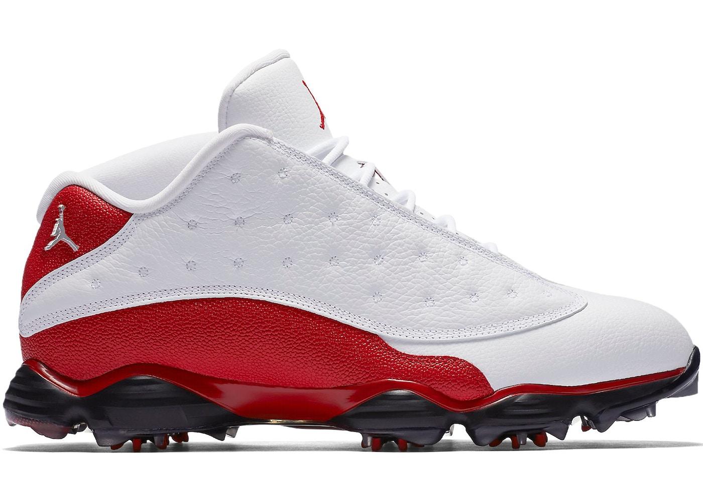 6032f6147a43 Jordan 13 Retro Golf Cleat White Red - 917719-101