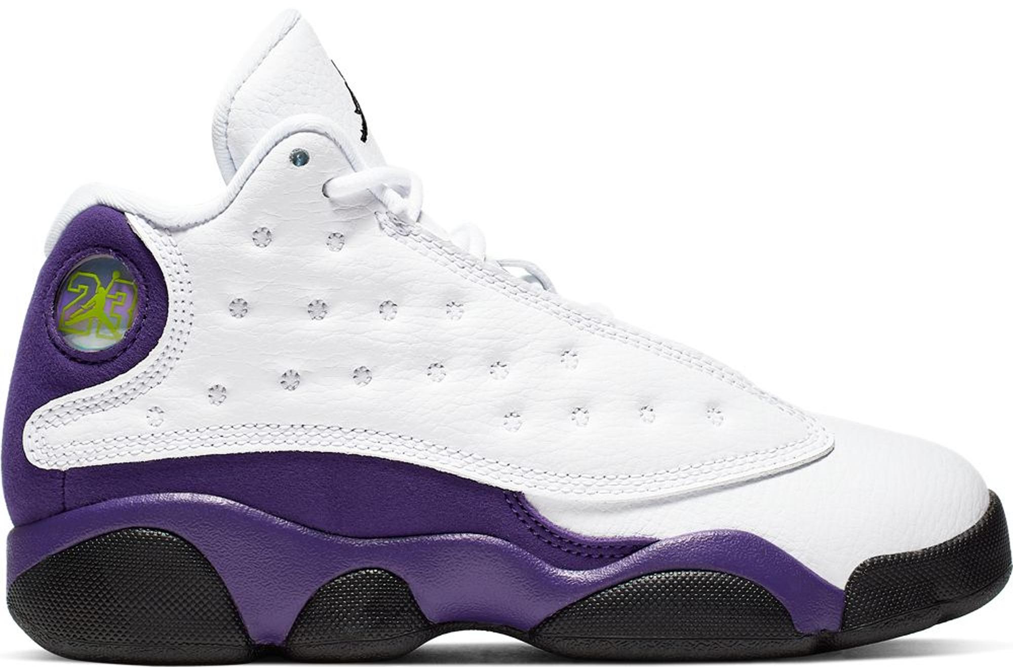 jordan 13 purple white