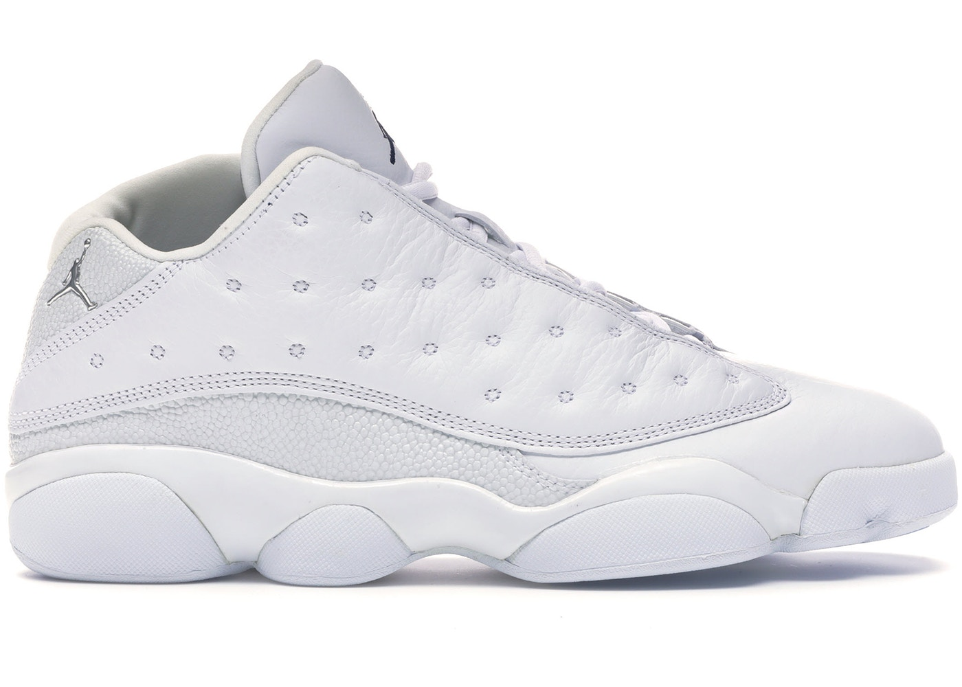 best service 61e43 54d9c Jordan 13 Retro Low All White