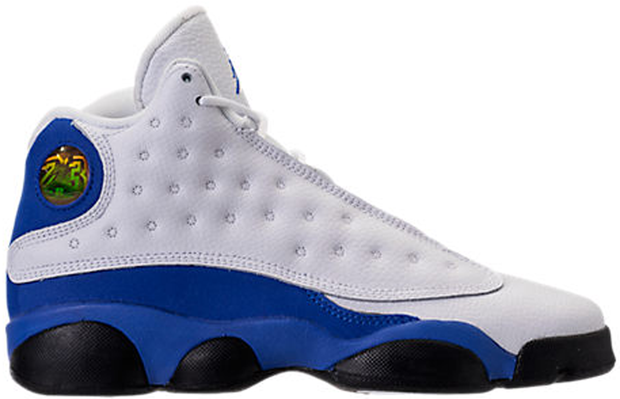 Jordan 13 Retro White Hyper Royal Black (GS)