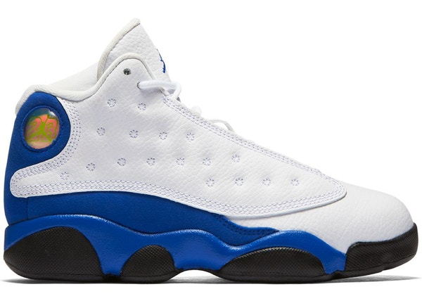 aea61e304eee Jordan 13 Retro White Hyper Royal Black (PS)