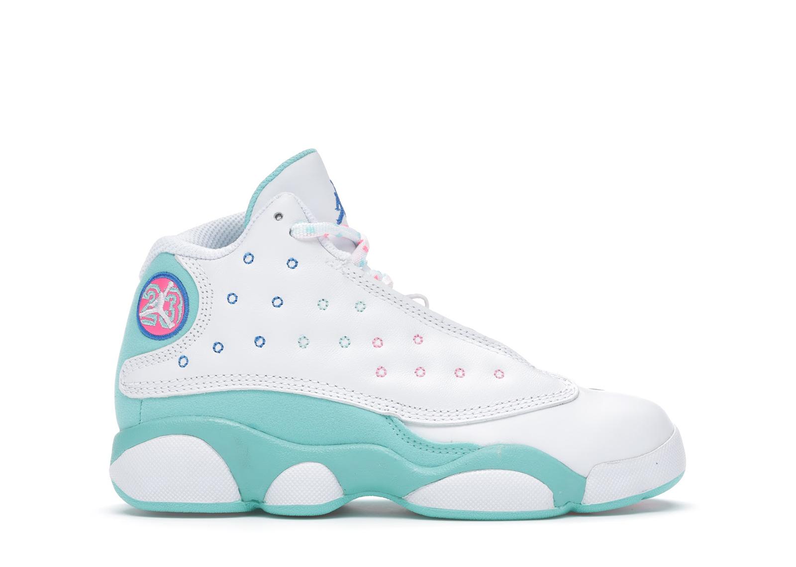 Jordan 13 Retro White Soar Green Pink